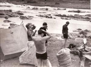 UMKO Trip 1965 Below Waterfall