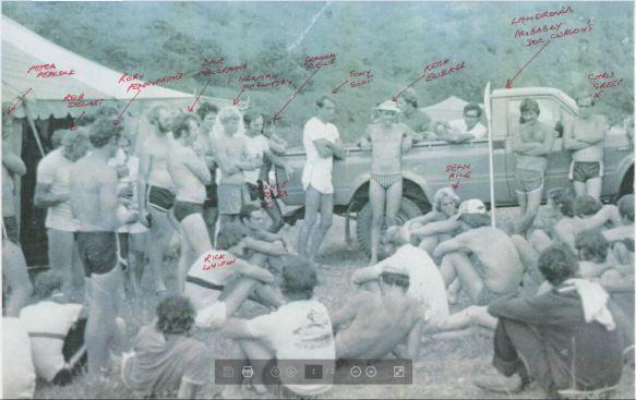 Umko race meeting on riverbank