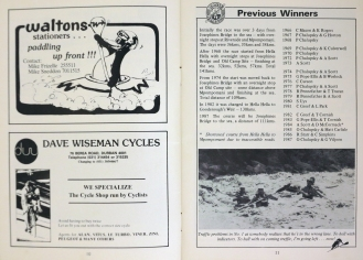 1988 - The various routes - Winners 1966 - 1987